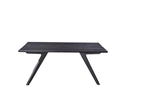 Mesa de comedor cuadrada de madera de olmo