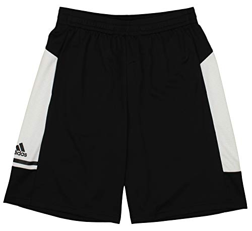 adidas Game Built Player Climalite Short with Pockets, Black- White Small