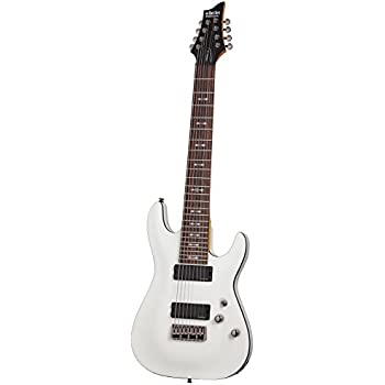 schecter omen 8 8 string electric guitar vintage white musical instruments. Black Bedroom Furniture Sets. Home Design Ideas