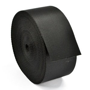 HG X 10 Yards Black Nylon Heavy Webbing Strap