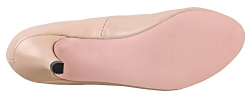 Chase & Chloe Womens Kimmy-21 Regular |Mary Jane | Mid Heel Shoes Nude Pu Low IPtTitphs