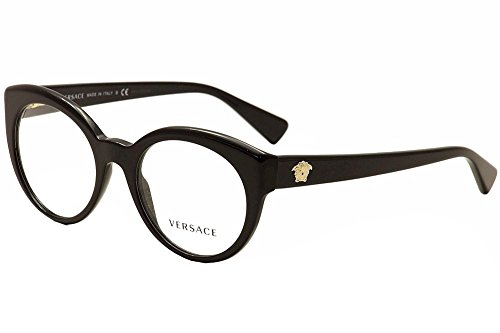 Versace VE 1175B Eyeglasses w/ Gold Frame and Non-Rx 51 mm ...