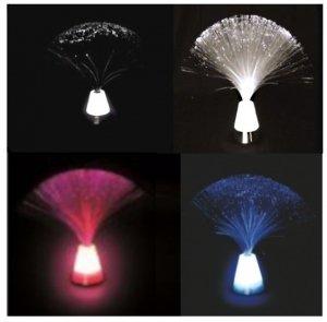Lampe Lichtfasern Base schwarz weiß blau pink 26x 7cm