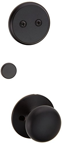 Schlage F94-PLY Plymouth Knob Dummy Interior Pack from The F-Series, Matte Black ()