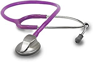 ADC - 615FV Adscope 615 Platinum Sculpted Clinician Stethoscope with Tunable AFD Technology,, Amethyst