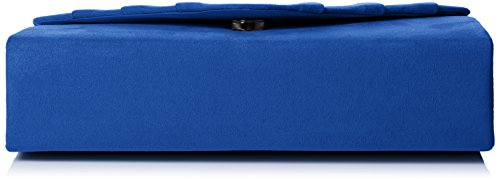 SwankySwans - Iggy Suede Velvet Envelope Party Prom Clutch Bag, Sacchetto Donna Blue (Royal Blue)