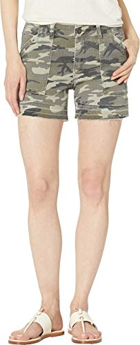 KUT from the Kloth Women's Alice Shorts w/Porkchop Pockets in Olive Olive 2 4.5