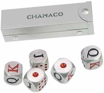 Pinkmarket - CH4228 Set de dados de póker de diseño en metal. Caja ...
