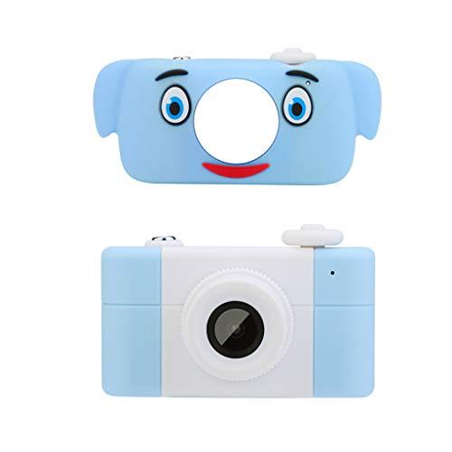 【D3-PLUS青い豚子カメラ】子供用カメラ デジタルトイ写真 ミニ楽しい漫画子供用カメラ (ライトブルー)