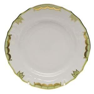 "Herend Princess Victoria Green Dinner Plate-10.5"""