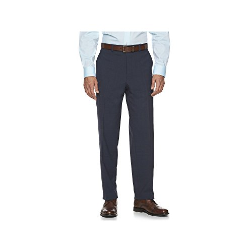 Chaps Men's Performance Comfort-Fit Wool-Blend Stretch Patterned Suit Pants (38W x 32L, ()