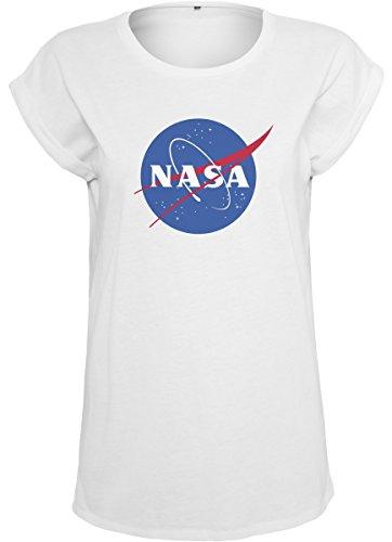 Mister Nasa Streetwear Ladies Bianco Shirts Donna Tee Insignia 66na8q
