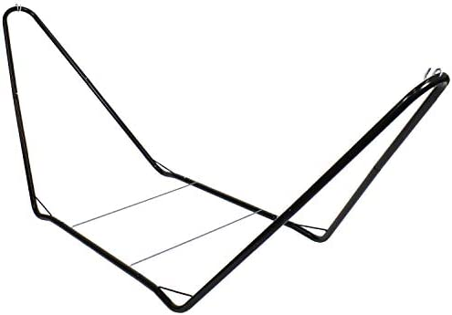 Sunnydaze 10 Foot Portable Hammock Stand Only – Heavy-Duty Steel Hammock Stand for Camping Spreader Bar Styles – 300-Pound Capacity – Black