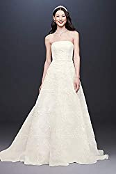 Organza Banded Wedding Dress with Sequin Appliques