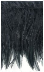 "Expo Feather Fringe 4"" Wide 10 Yards-Black"