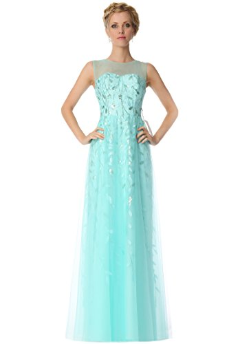 SEXYHER JewelNeckline patr¨®n de las damas de honor vestido de noche formal -EDJ1836 Multicolor