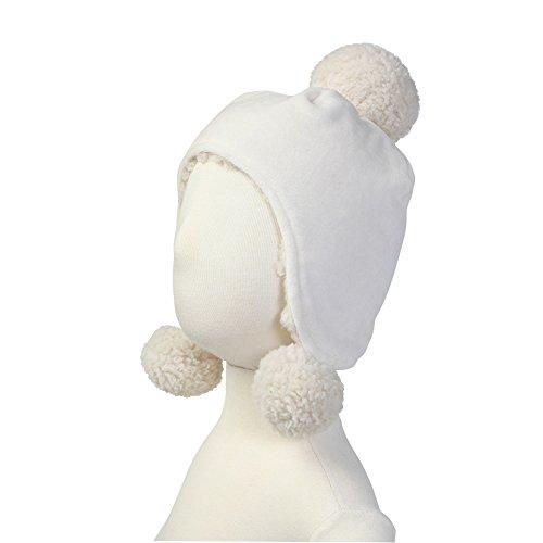 Zutano Baby Velour Pom Pom Hat - Cream, 12 Months