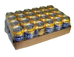 Inca Kola Golden Carbonated Beverage Soda - la kola dorada - 12 oz cans - 24pk