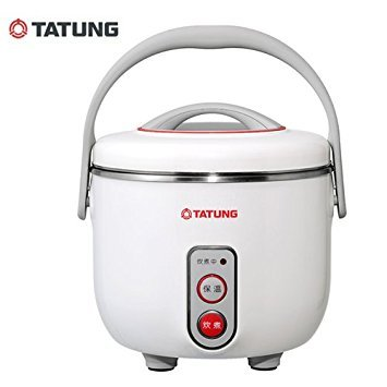 Tatung 3-Cup Multifunction Indirect Heat Rice Cooker Steamer and Warmer by Tatung