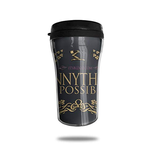 NFJHYR Dark Chocolate Hennything Is Possible, Brandy Alcohol Parody Food Grade ABS Coffee Cup With Cover