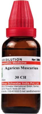 Willmar Schwabe Homeopathic Agaricus Muscarius (30 CH) (30 ML) by Venus.Exports