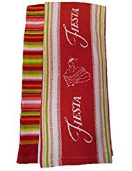 Fiesta Summer Stripe Kitchen Towel, Red Multi, 2-Pack