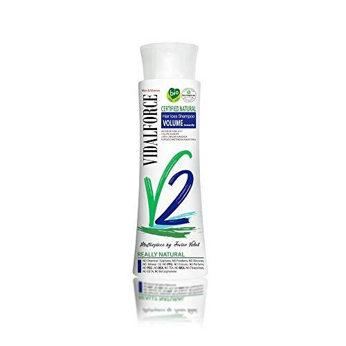 VidalForce Champu V2 Anti-caida Natural Certificado Caída Avanzada + Volumen Instantaneo: Amazon.es: Belleza