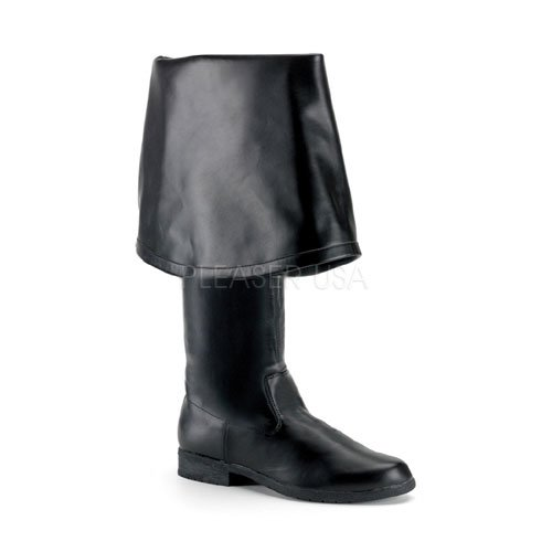 Pu Pirate Boot (Funtasma by Pleaser Men's Halloween Maverick-2045,Black PU,12)