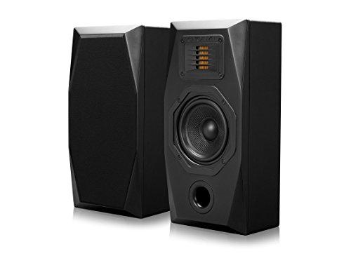Emotiva Audio Surround Wall Mounted Home Speaker Set of 2 Black (E1)
