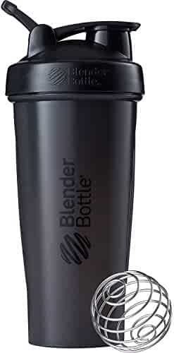 BlenderBottle Classic Loop Top Shaker Bottle, 28-Ounce, Full Color Black