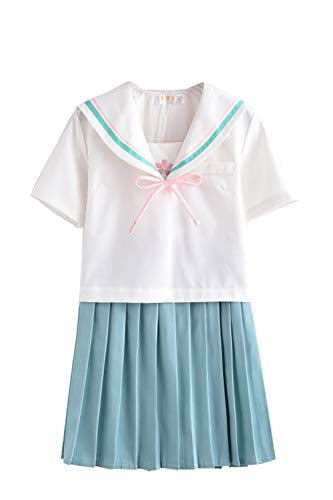 TISEA Japanese Anime Clothes Classic Navy Sailor Suit Short Sleeve Girl Students School Uniforms