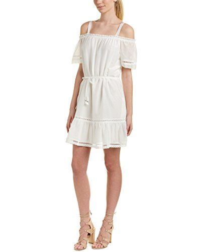 Ella Moss Women's Bridgette Dress, White, Medium Silk Voile Dress