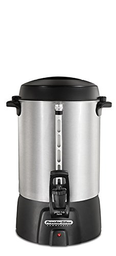Steel Urn - Proctor Silex Commercial 45060  Coffee Urn 60 Cup Aluminum, One Hand Dispensing, Coffee Level Indicator, 16.93