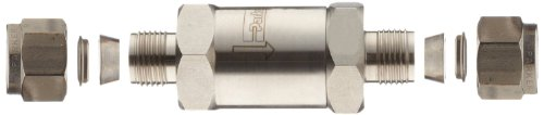 Parker F Series Stainless Steel 316 Instrumentation Filter, Inline, 50 Micron, 1/4'' A-Lok Compression Fitting by Parker (Image #3)