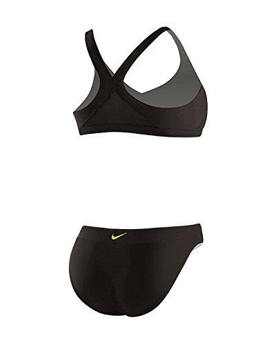 Nike Swim NESS5200 Womens Trainer 2Pc, Black - 12 (Piece 2 Nike Swimsuit)