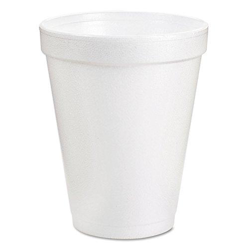 DART 6J6 Foam Drink Cups 6oz White 25/Bag 40 Bags/Carton