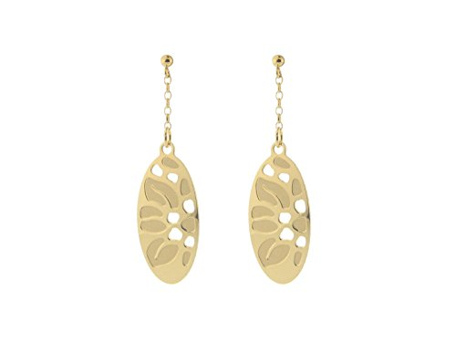 Fronay Co Etruscan Oval Roots Earrings in Sterling -