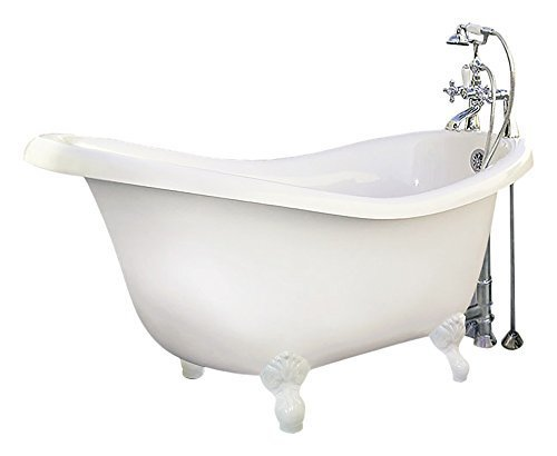 The Chelsea Collection CC-SC-C-WH Slipper Claw Foot Tub Package
