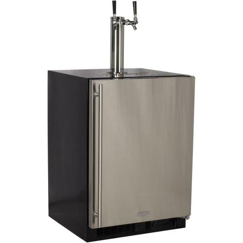Dispenser Custom Panel (Marvel ML24BTP3RP Twin Tap Built-In Beer Dispenser with Right Side Hinge, 24