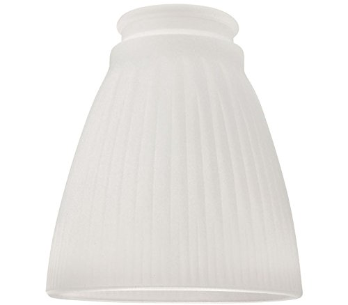 Ellington 758F Ribbed Cone Shaped Ceiling Fan Glass Shade wi