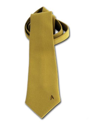 Anovos Star Trek Original Series (Novelty Men's Necktie-Command Captain Kirk, Gold)