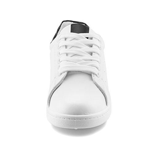 Lien Femmes Couleur Unie Lacet Fermeture De Marche Marche Chaussures De Sport Chaussures De Sport (grand Enfant / Adultes) Blanc / Noir