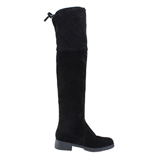 Piatta Alti Stivali alti Donna Stivali ginocchio Lunghi Inverno Elegante hibote sopra Stivali Classico nero al Scarpe Autunno 6qUEwdnvH