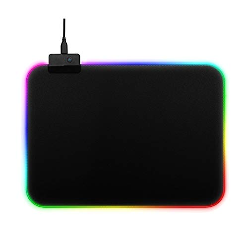 (Gaming Mouse Pad RGB Extra Large Surface Non Slip Rubber Base Illusion Multiple Color Switching)