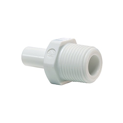 (John Guest Stem Adapter 3/8in Stem x 1/4in NPTF Thread PP051222W 10 Pack)