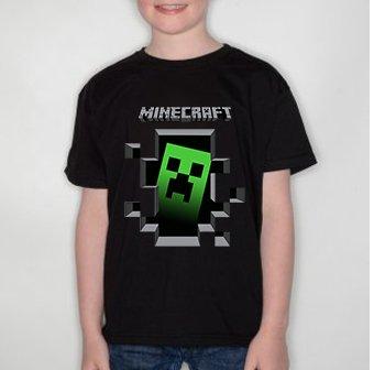 Minecraft insider game creeper T-Shirt Kids 14 - 15 Years Black ...