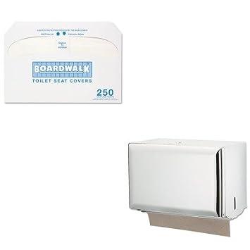 KITBWKK5000SJMT1800WH: Kit de valor – Dispensador de toallas de bloqueo de llave de San Jamar