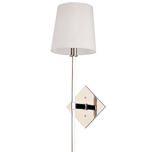 Hudson Valley Lighting 211-PN One Light Wall Sconce from the Cortland collection Polished Nickel (Cortland Collection)