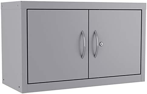 Hirsh Industries Space Solutions Huxley Wall Mount Upper Cabinet 18x30x13 in Platinum