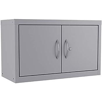 Pemberly Row Storage Cabinet 3 Shelf 36x30x18 in Platinum